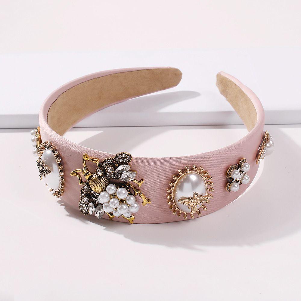 ookjewelry wholesale Retro Diamond Pearl Bee Headbands