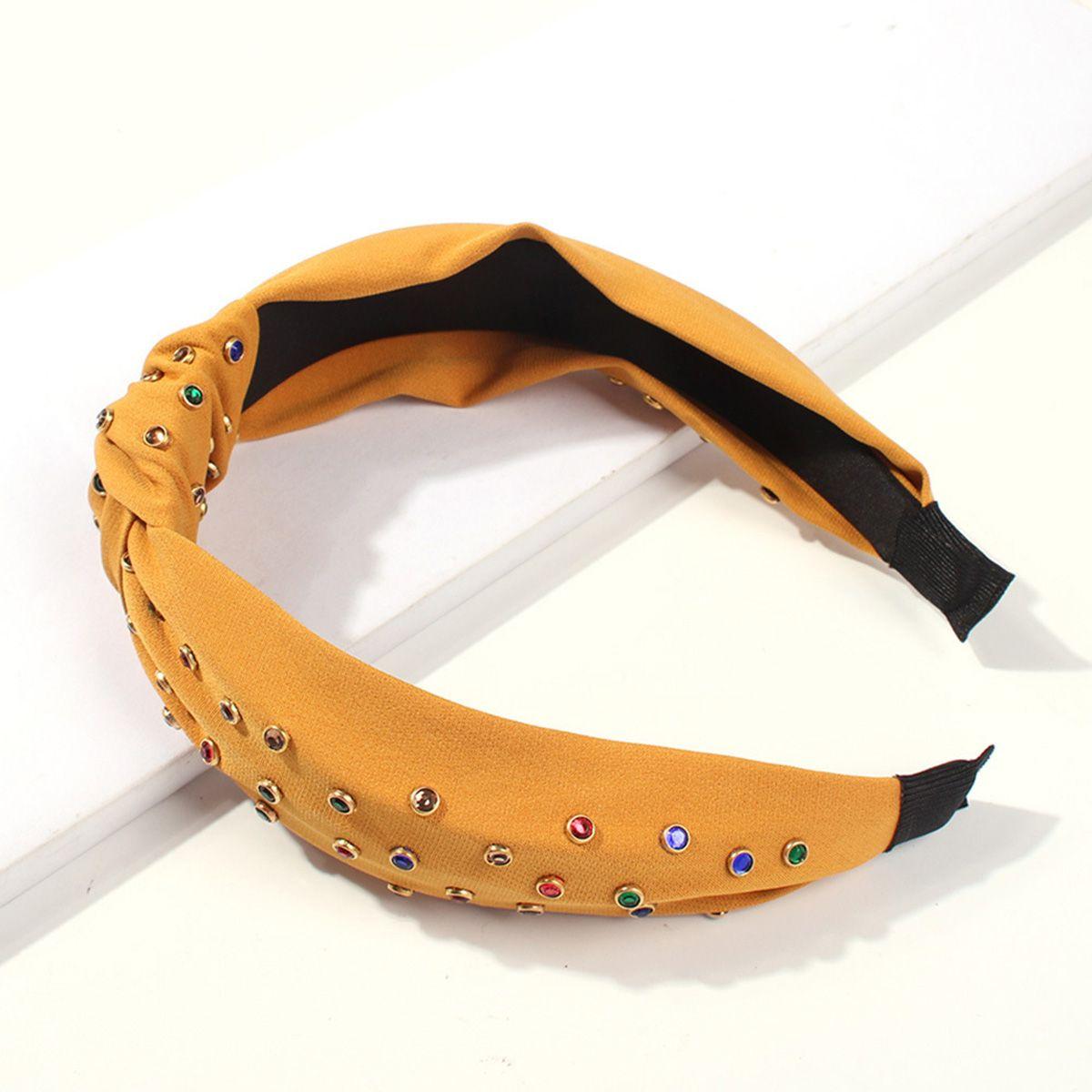 ookjewelry wholesale Colorful Round Rhinestone Headband
