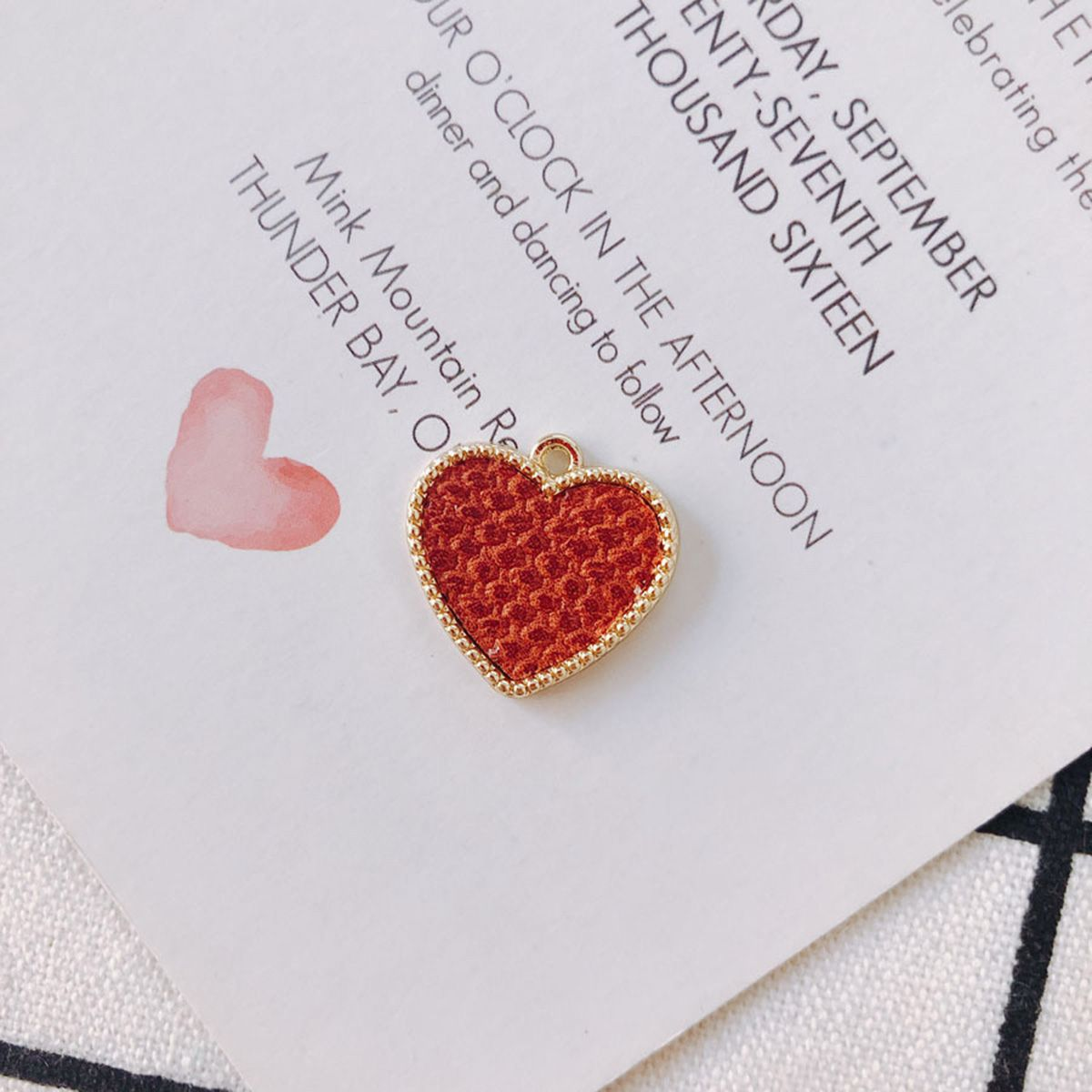 20 Pack Leather Love Heart Pendant Charms